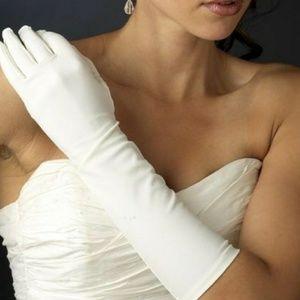 White fashion gloves